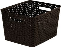 Curver Nestable Rattan Basket Brown - 18L
